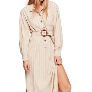 NWT Free People Aubrey Midi Stripe Dress